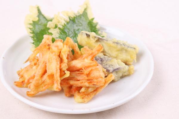 顔が見えるキッチン。の天ぷら