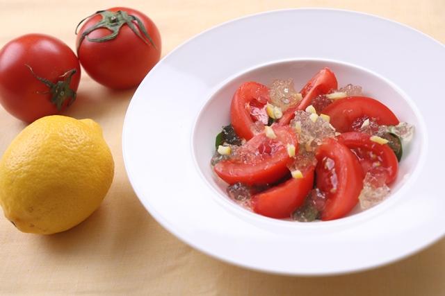 瀬戸内レモンの爽やかな香りのトマトマリネ